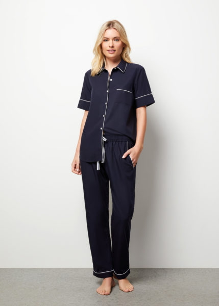 The Blair Pyjama Set Short Sleeve - Front view