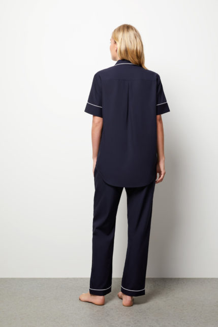 The Blair Pyjama Set Short Sleeve - Rear view